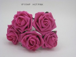 YF111HP OPEN ROSE IN HOT PINK COLOURFAST FOAM