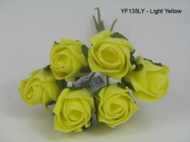 YF135LY  JUBILEE ROSE BUD IN LIGHT YELLOW COLOURFAST FOAM