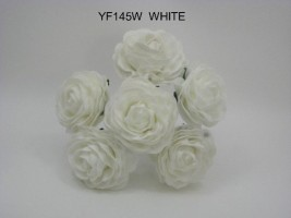 YF145W CAMELIA OPEN ROSES IN WHITE COLOURFAST FOAM