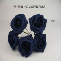 YF159N  OPEN ROSE IN NAVY BLUE COLOURFAST FOAM