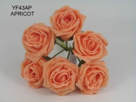 YF43AP - QUALITY  COTTAGE ROSE IN APRICOT COLOURFAST FOAM