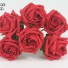 YF43R  QUALITY COTTAGE ROSE IN RED COLOURFAST FOAM