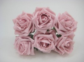YF43VPH  COTTAGE ROSE IN VINTAGE PINK COLOURFAST FOAM- BUY 60 BUNCHES AND PAY £1.15 A BUNCH