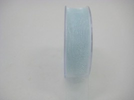 25 MM ORGANZA RIBBON IN BABY BLUE