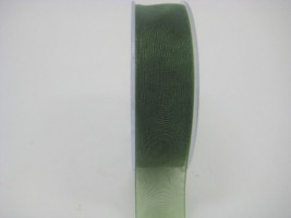 25 MM ORGANZA RIBBON IN FOREST GREEN