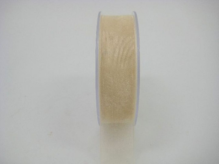 25 MM ORGANZA RIBBON IN GOLD