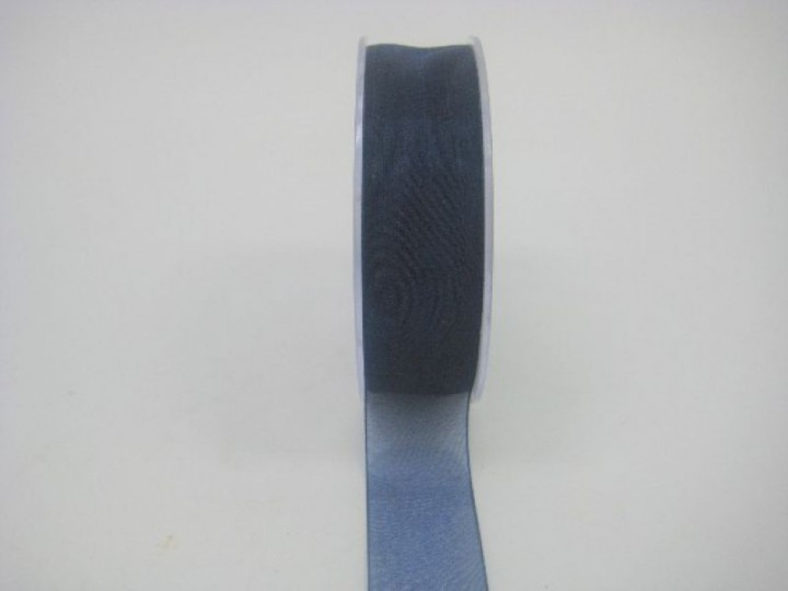 25 MM ORGANZA RIBBON IN NAVY