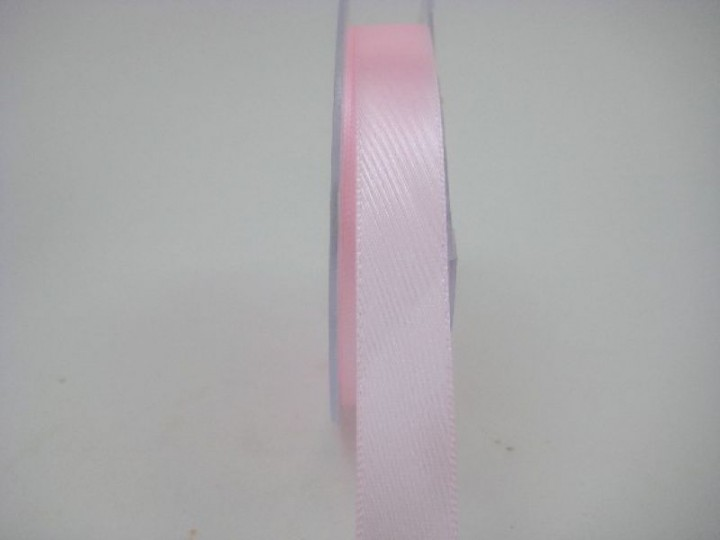 15 MM  X 22.5 METRES SATIN RIBBON IN LIGHT PINK- IF QUANTITY IS MORE THAN 10 ROLLS PAY £1.05 A ROLL
