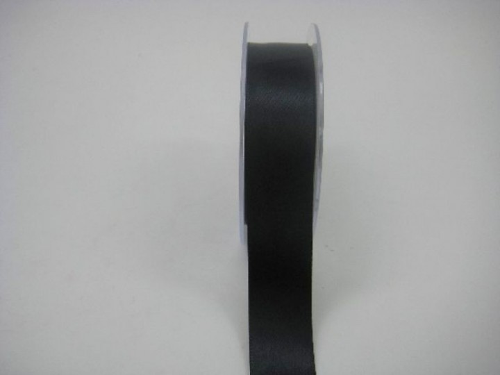 RS25BL 25 MM X 22.5 METRES SATIN RIBBON IN BLACK- IF QUANTITY IS MORE THAN 5 ROLLS PAY £1. 59 A ROLL