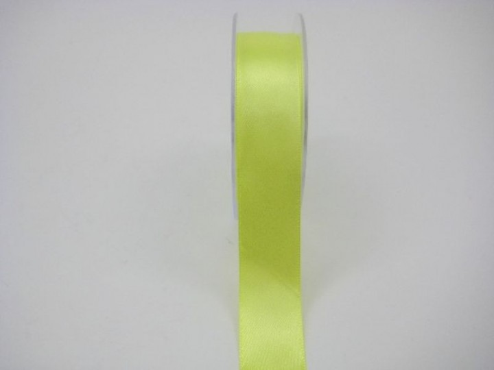 RS25L 25 MM  X 22.5 METRES SATIN RIBBON IN LIME- IF QUANTITY IS MORE THAN 5 ROLLS PAY £1.59 A ROLL
