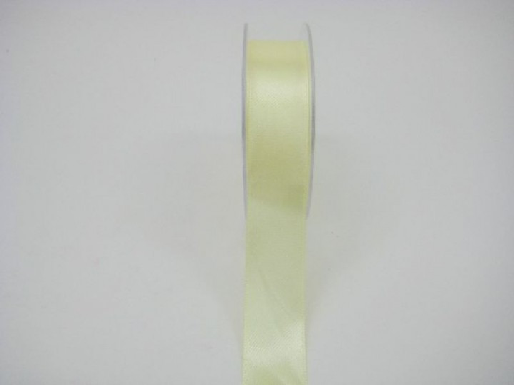 RS25LE 25 MM X 22.5 METRES SATIN RIBBON IN LEMON- IF QUANTITY IS MORE THAN 5 ROLLS PAY £1.59 A ROLL