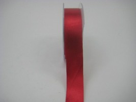 RS25R 25 MM X 22.5 METRES  SATIN RIBBON IN RED- IF QUANTITY IS MORE THAN 5 ROLLS PAY £1.59 A ROLL