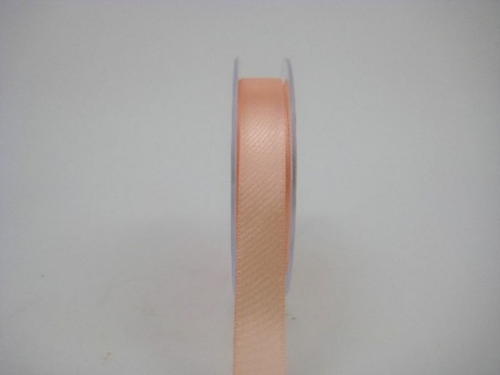 15 MM X 22.5 METRES SATIN RIBBON IN APRICOT IF QUANTITY IS MORE THAN 10 PAY £1.05 A ROLL