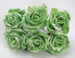 YFM43 Marble Effect 6cm Cottage Rose
