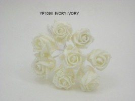 YF109LI  SPARKLE ROSEBUDS IN ALL IVORY COLOURFAST FOAM