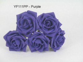 YF111PP OPEN ROSE IN CADBURYS PURPLE COLOURFAST FOAM
