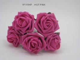 YF111HP OPEN ROSE IN HOT PINK COLOURFAST FOAM