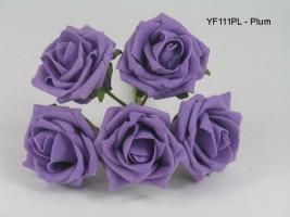 YF111PL  OPEN ROSE IN COLOURFAST FOAM IN PLUM COLOURFAST FOAM