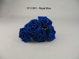 YF111RY OPEN ROSE IN ROYAL BLUE COLOURFAST FOAM