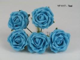 YF111T OPEN ROSE IN TURQUOISE COLOURFAST FOAM