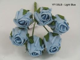 YF135LB  JUBILEE ROSE BUD IN LIGHT BLUE COLOURFAST FOAM