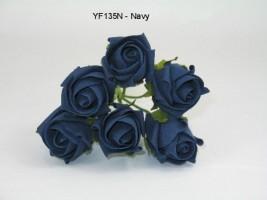 YF135N  JUBILEE ROSEBUD IN NAVY COLOURFAST FOAM