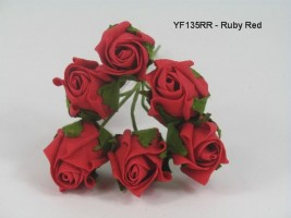 YF135RR  JUBILEE ROSE IN RUBY RED COLOURFAST FOAM