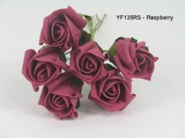 YF135RS  JUBILEE ROSEBUD IN RASPBERRY - TO CLEAR