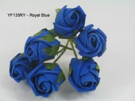 YF135RY   JUBILEE ROSEBUD IN ROYAL BLUE COLOURFAST FOAM
