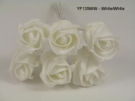 YF135WW  JUBILEE ROSEBUD  IN ALL WHITE COLOURFAST FOAM