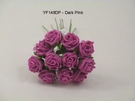 YF148DP  MINI TEA ROSE IN DARK PINK