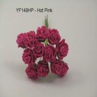 YF148HP  MINI TEA ROSE IN HOT PINK