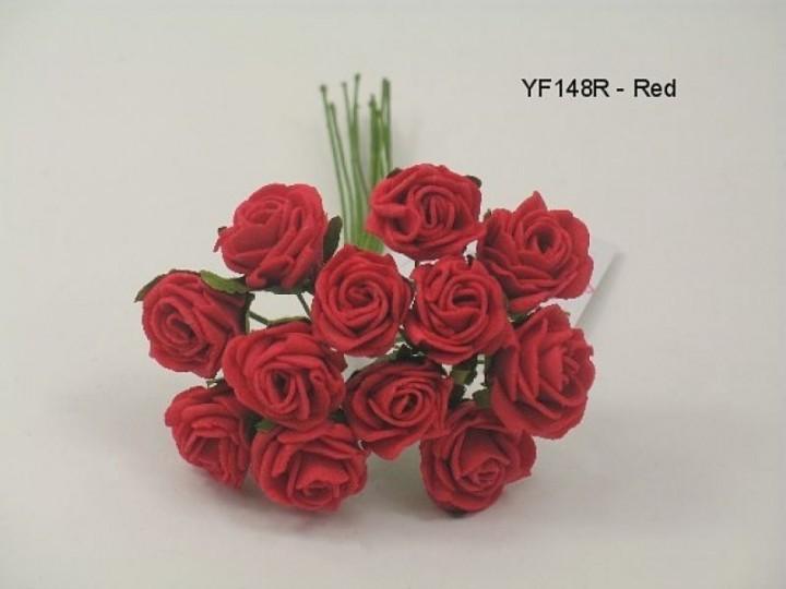 YF148R  MINI TEA ROSE IN RED
