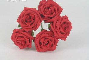 YF149R OPEN ROSES IN RED COLOURFAST FOAM- BUY 36 BUNCHES PAY 85P A BUNCH
