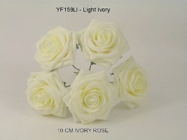 YF159LI  OPEN ROSE IN LIGHT IVORY COLOURFAST FOAM