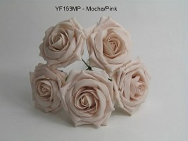 YF159MP  OPEN ROSE IN MOCHA PINK