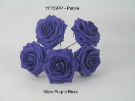 YF159PP  OPEN ROSE IN PURPLE COLOURFAST FOAM