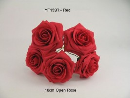 YF159R OPEN ROSE IN RED COLOURFAST FOAM
