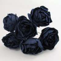 YF168N  PEONY IN NAVY COLOURFAST FOAM