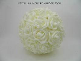 YF171 II 25 CM ALL IVORY POMANDER