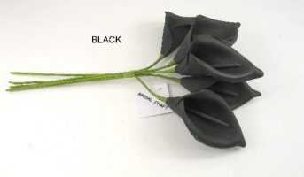 YF35BL CALLA LILIES IN BLACK COLOURFAST FOAM