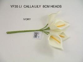 YF35LI CALLA LILLIES IN LIGHT IVORY COLOURFAST FOAM