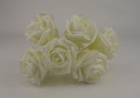 YF43II -QUALITY  COTTAGE ROSE IN ALL IVORY COLOURFAST FOAM