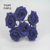 YF43PP  QUALITY COTTAGE ROSE IN CADBURYS PURPLE COLOURFAST FOAM