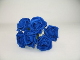 YF43RY  QUALITY COTTAGE ROSE IN ROYAL BLUE COLOURFAST FOAM