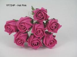 YF72HP  ROSEBUDS IN HOT PINK COLOURFAST FOAM 8 X 3 CM