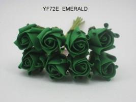 YF72E ROSEBUDS IN EMERALD GREEN COLOURFAST FOAM 8 X 3 CM