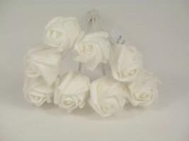 YF72WW  ROSEBUDS IN ALL WHITE COLOURFAST FOAM 8 X 3 CM