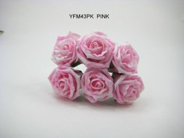 YFM43 Marble Effect 6cm Cottage Rose
